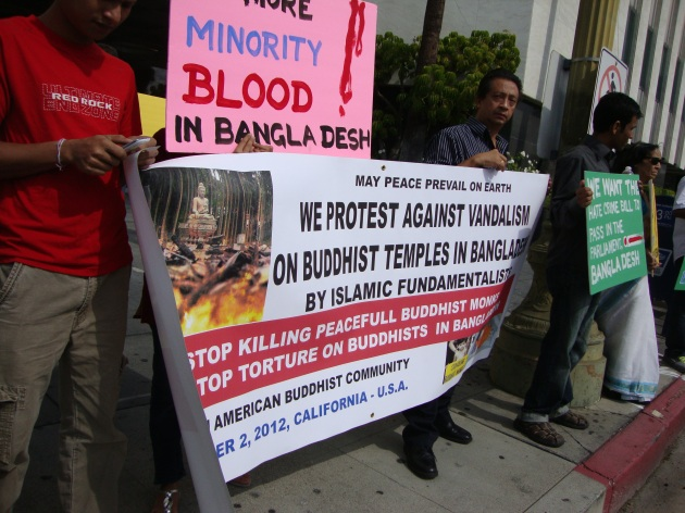 Hindu community protest in Los Angeles Ekush News Media / BCNN